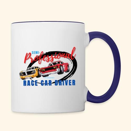 Semi-professional pretend race car driver - Contrast Coffee Mug
