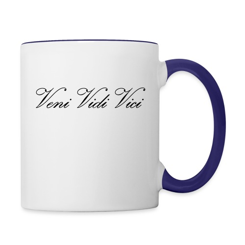 Zyzz Veni Vidi Vici Calli text - Contrast Coffee Mug