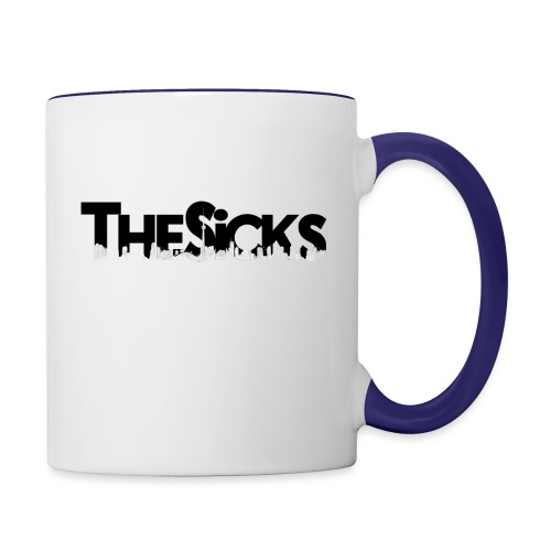 The Sicks - logo black - Contrast Coffee Mug