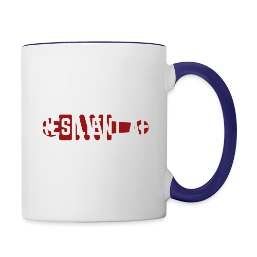 RESILIENT WHITE with red - Contrast Coffee Mug