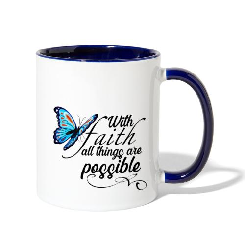 all things possible - Contrast Coffee Mug