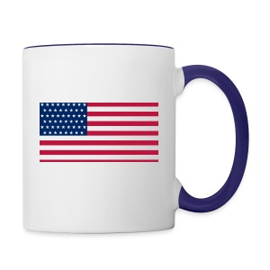 usa flag - Contrast Coffee Mug