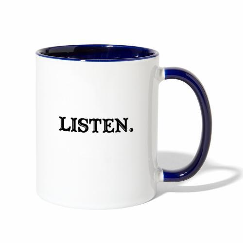 LISTEN - Contrast Coffee Mug