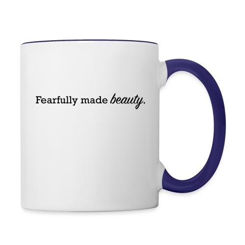 fearfully made beauty - Contrast Coffee Mug