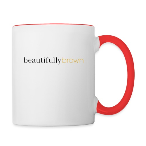 beautifullybrown - Contrast Coffee Mug