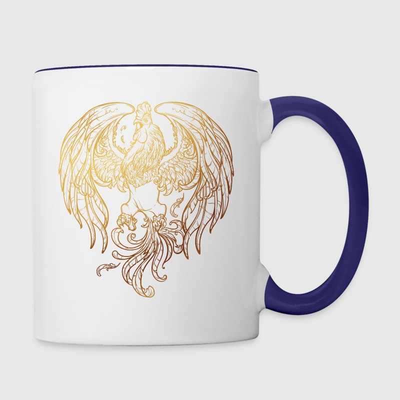 golden-rooster-sketch-2017-new-year - Contrast Coffee Mug