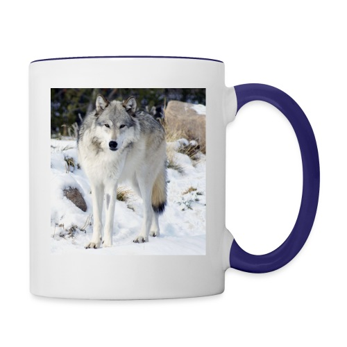Canis lupus occidentalis - Contrast Coffee Mug