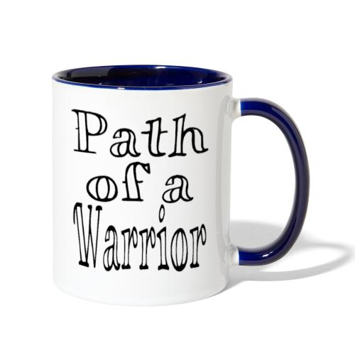 Path of a Warrior (White) - Contrast Coffee Mug