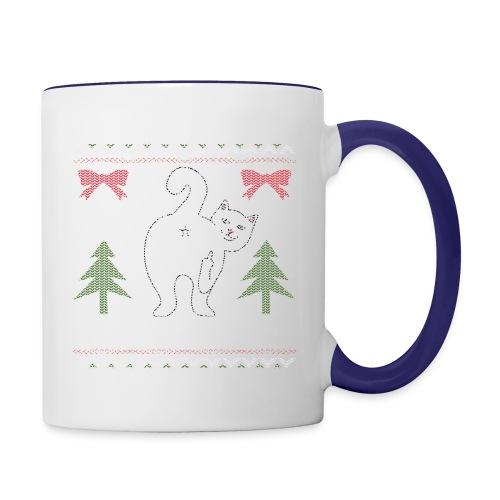 Ugly Christmas Sweater I Do What I Want Cat - Contrast Coffee Mug