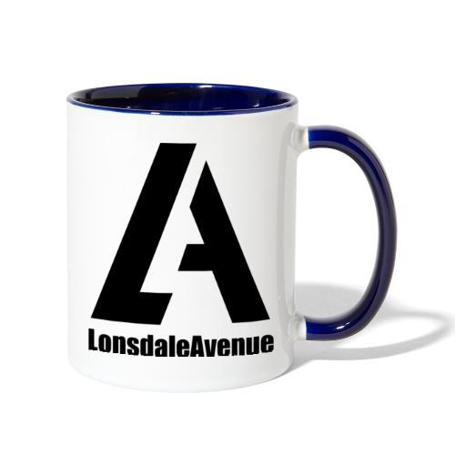 Lonsdale Avenue Logo Black Text - Contrast Coffee Mug