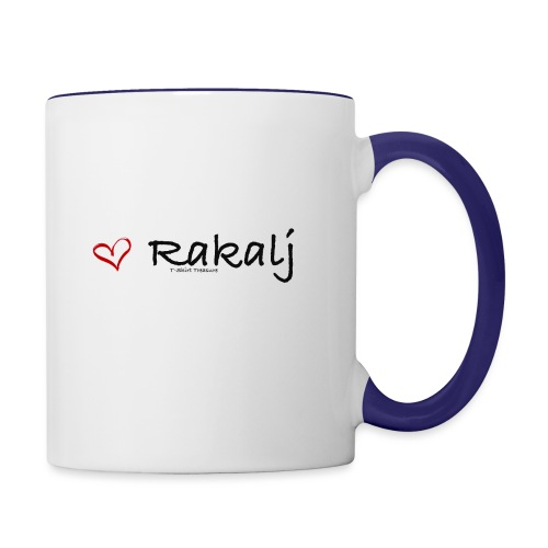 I love Rakalj - Contrast Coffee Mug