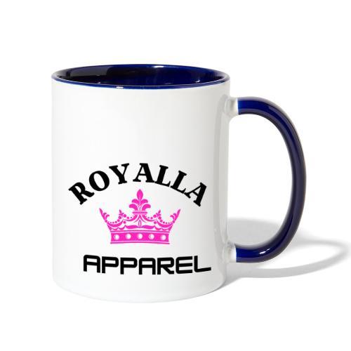 Royalla Apparel Black with Pink Logo - Contrast Coffee Mug