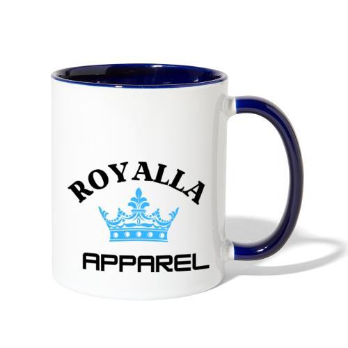 Royalla Apparel LogoBlack with Blue Words - Contrast Coffee Mug