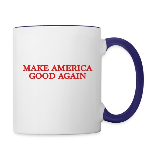 Make America Good Again - front & back - Contrast Coffee Mug