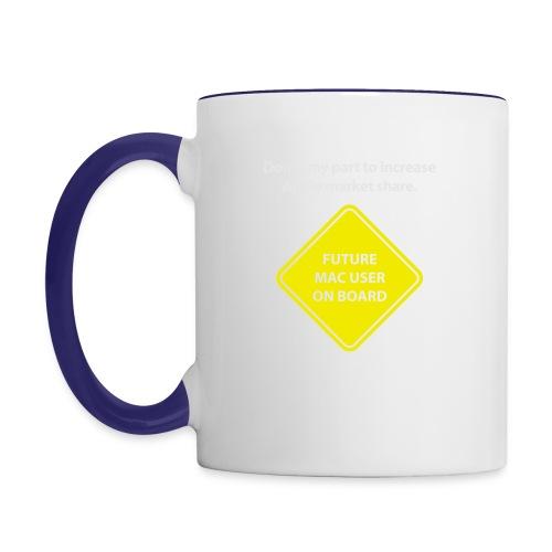 macuseronboard - Contrast Coffee Mug