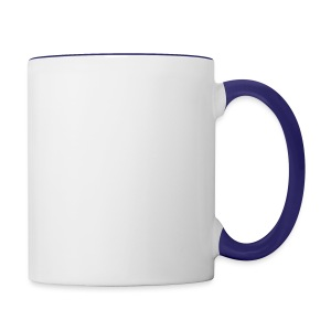Vloggerjoe White circle lgo - Contrast Coffee Mug