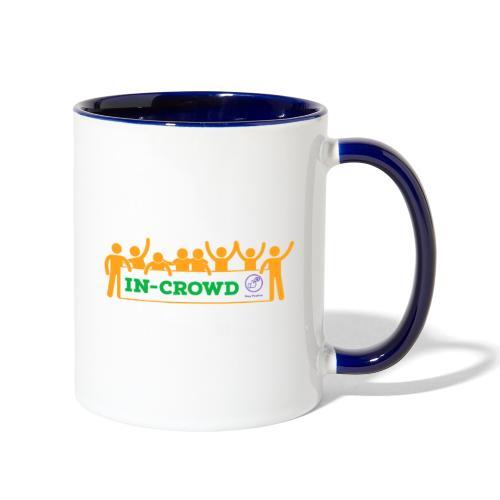 in crowd orange - Contrast Coffee Mug