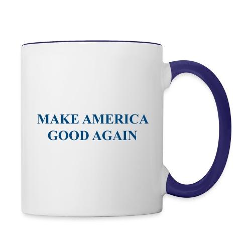 MAGOOA navy blue - Contrast Coffee Mug