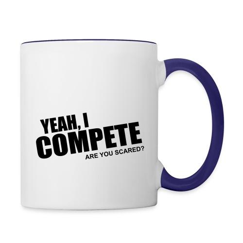 compete - Contrast Coffee Mug
