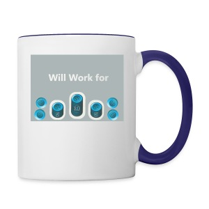 Will_work_for_buttons - Contrast Coffee Mug