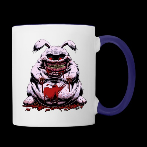 Cute Creepy Bunny Buddy - Contrast Coffee Mug