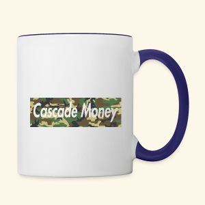 Cascade money camo - Contrast Coffee Mug