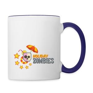 Holiday Zombies logo - Contrast Coffee Mug