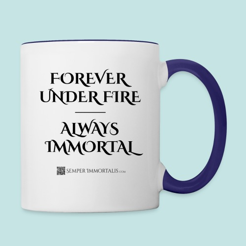 Always Immortal (black) - Contrast Coffee Mug