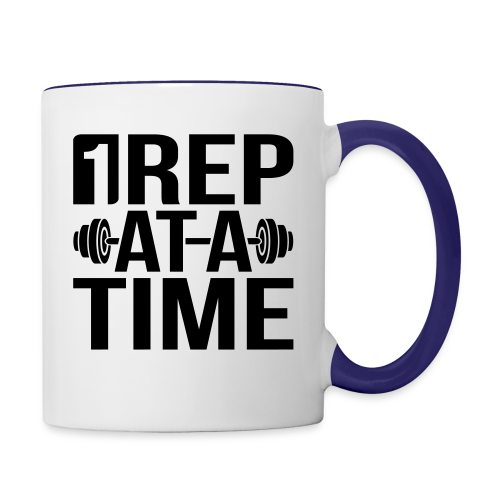 1Rep at a Time - Contrast Coffee Mug