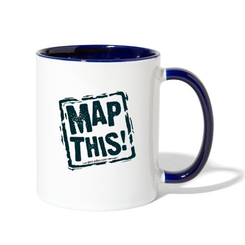 MapThis! Black Stamp Logo - Contrast Coffee Mug