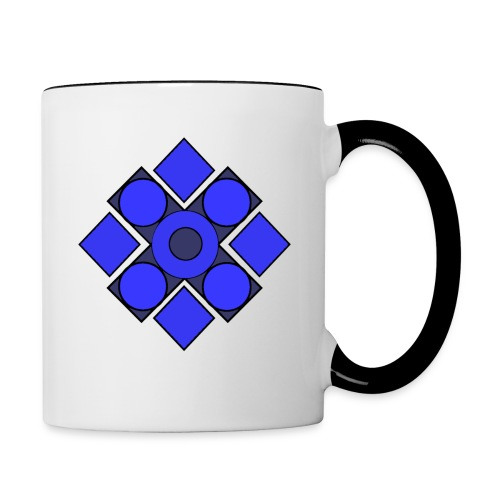 Geometric Cerulean - Contrast Coffee Mug