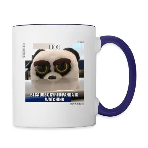 Crypto Panda Is Watching (Crypto Series) - Contrast Coffee Mug