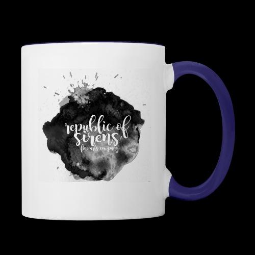 ROS FINE ARTS COMPANY - Black Aqua - Contrast Coffee Mug