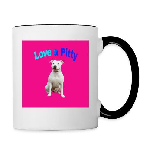 Pink Pit Bull - Contrast Coffee Mug