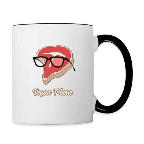 Vegan T bone - Contrast Coffee Mug