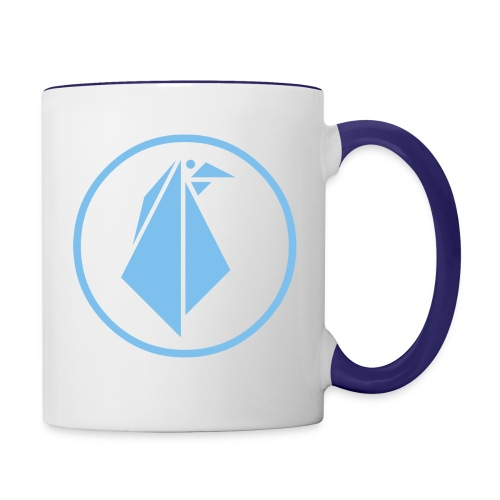 EMPEROR PENGUINS Blue Penguin Logo - Contrast Coffee Mug