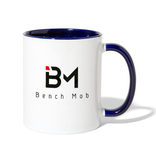 Bench Mob Logo (black) - Contrast Coffee Mug