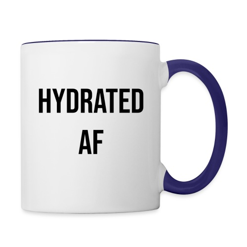 HYDRATED AF BLACK - Contrast Coffee Mug