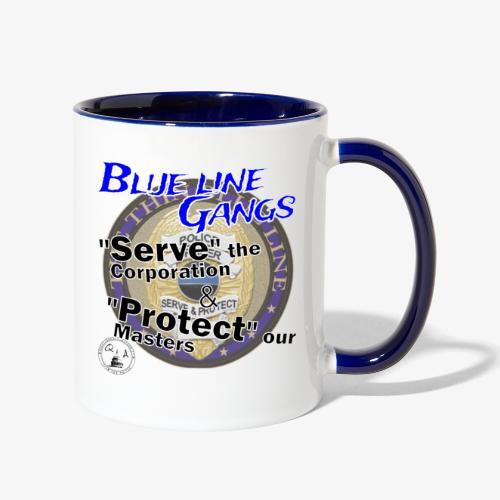 Thin Blue Line - To Serve and Protect - Contrast Coffee Mug