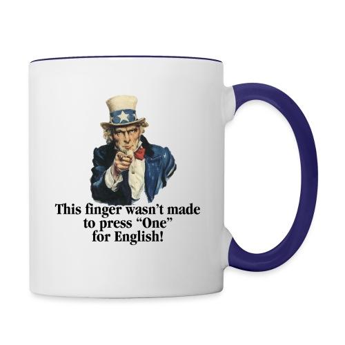 Uncle Sam - Finger - Contrast Coffee Mug