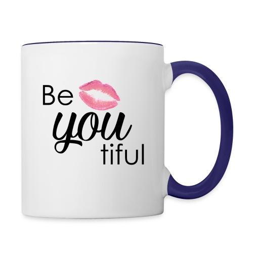 Be-You-Tiful Lip Logo - Contrast Coffee Mug