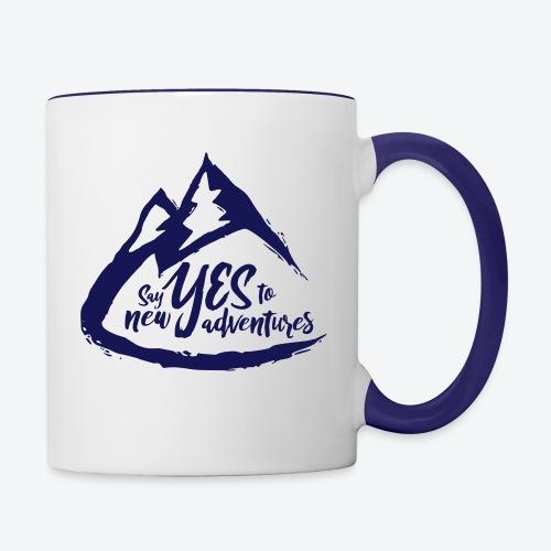 Say Yes to Adventure - Dark - Contrast Coffee Mug