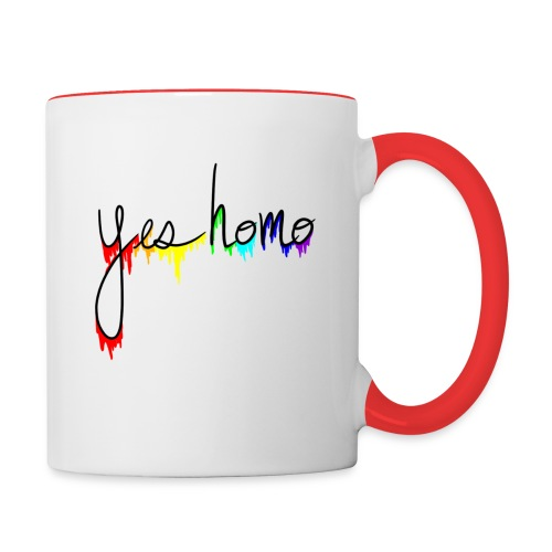 Yes Homo Rainbow Drip - Contrast Coffee Mug