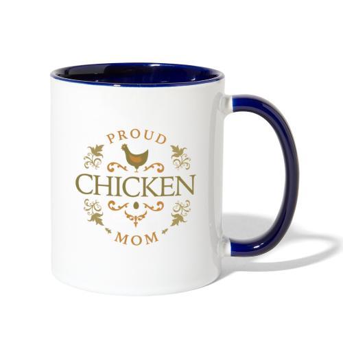 proud chicken mom - Contrast Coffee Mug