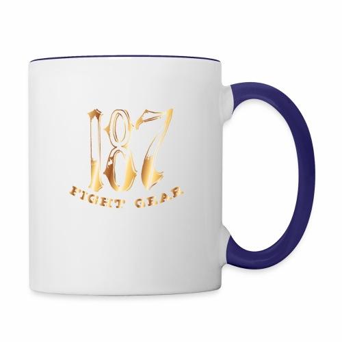 187 Fight Gear Gold Logo Street Wear - Contrast Coffee Mug