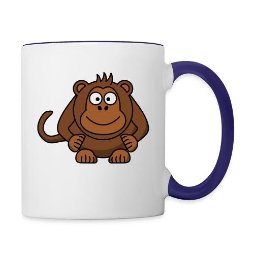 Funny Monkey - Contrast Coffee Mug
