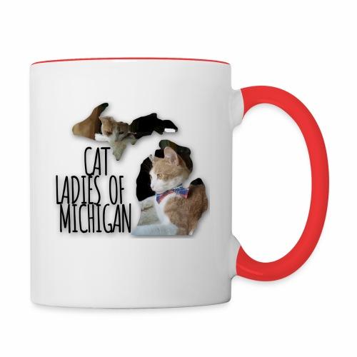 Cat Ladies of Michigan - Contrast Coffee Mug