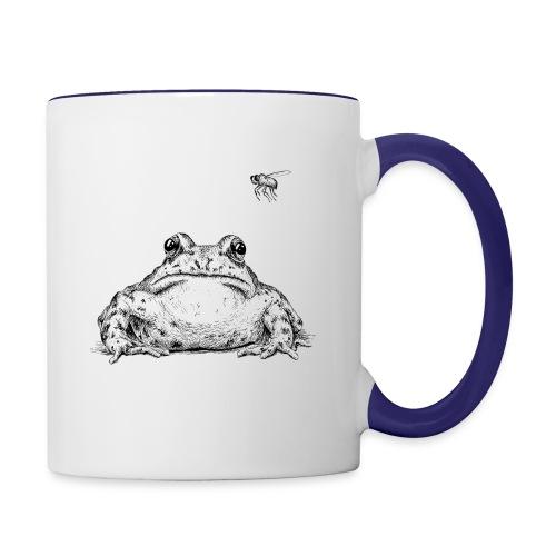 Frog with Fly by Imoya Design - Contrast Coffee Mug