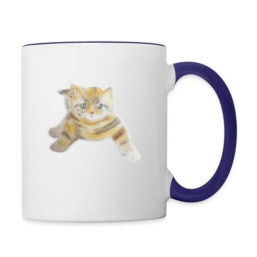 sad boy - Contrast Coffee Mug