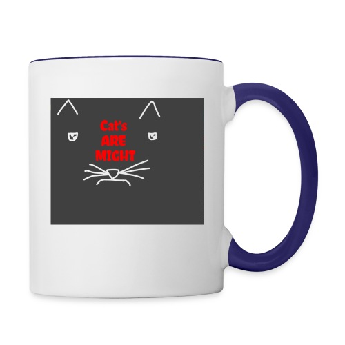 Cat's Are Might - Contrast Coffee Mug